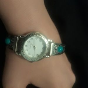 Jewelry - Silver and turquoise watch